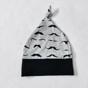 Other - Moustache Tie Top Baby Cap